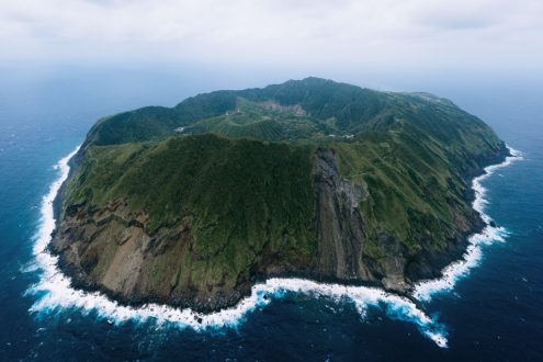 Aerial view of Aogashima - Japan off-the-beaten-path nature photography