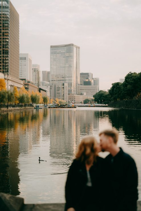 Tokyo engagement photoshoot - Prewedding portrait photography by Ippei and Janine