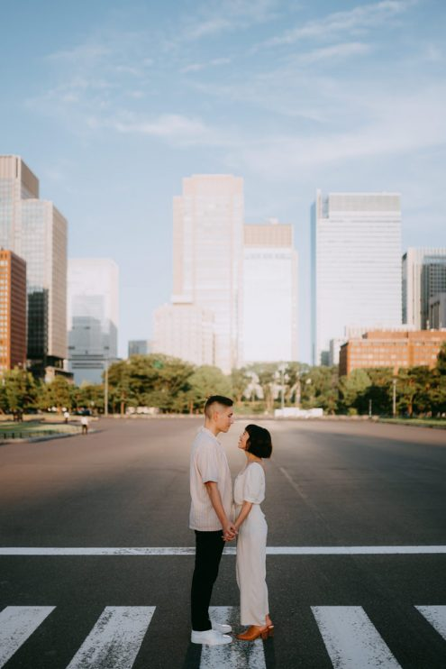 Japan engagement photography - Tokyo portrait photographer Ippei and Janine