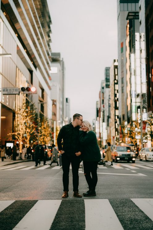 Tokyo engagement photography - Japan pre-wedding portrait photographer Ippei and Janine