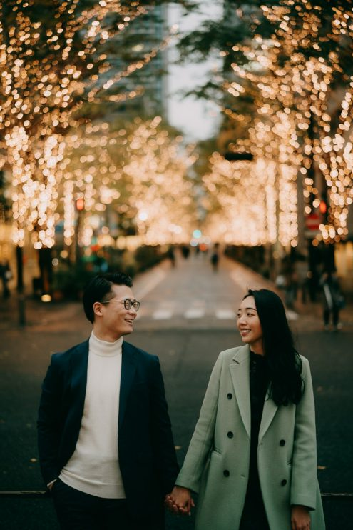 Tokyo engagement photoshoot - Tokyo portrait photographer Ippei & Janine