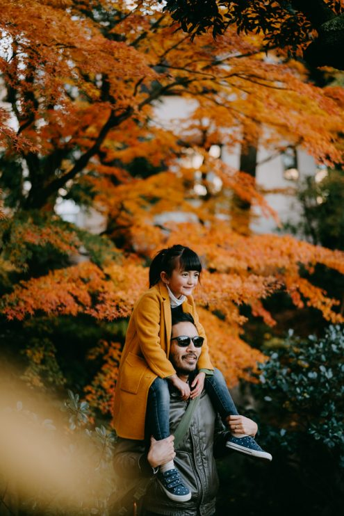 Tokyo family portrait photography with autumn colors – Ippei and Janine Photography