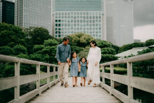 Tokyo family photoshoot - Japan portrait photographer Ippei and Janine