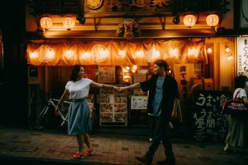 Tokyo engagement portrait photographer - Japan pre-wedding photography - Ippei and Janine