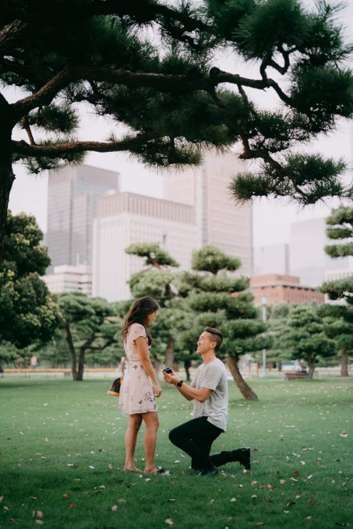 Tokyo proposal photographer - Japan engagement photography
