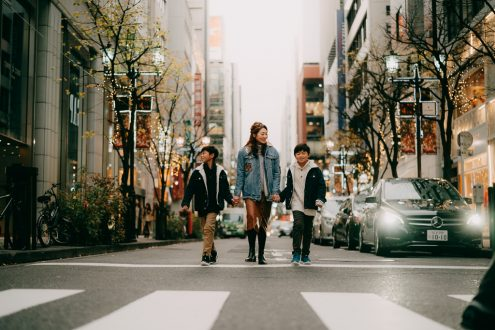 Tokyo family portrait photographer Ippei and Janine - Japan portrait photography