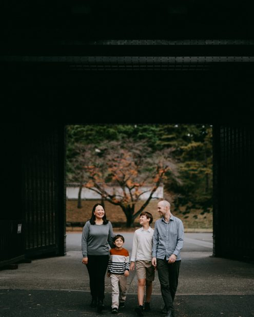 Tokyo family photography - Japan family portrait photographer Ippei and Janine