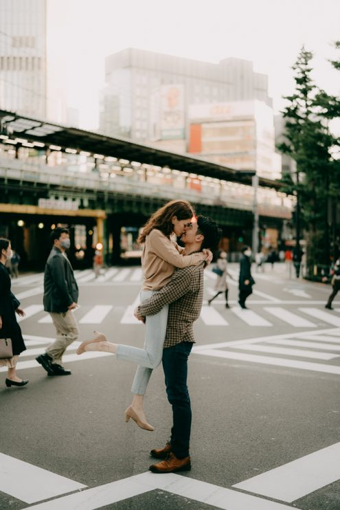 Tokyo engagement portrait photography - Pre-wedding photographer Ippei and Janine
