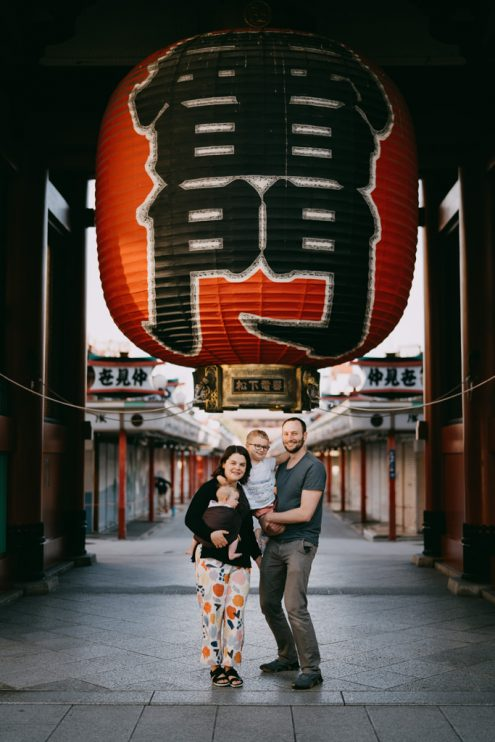 Tokyo family portrait photography - English speaking portrait photographer Ippei and Janine