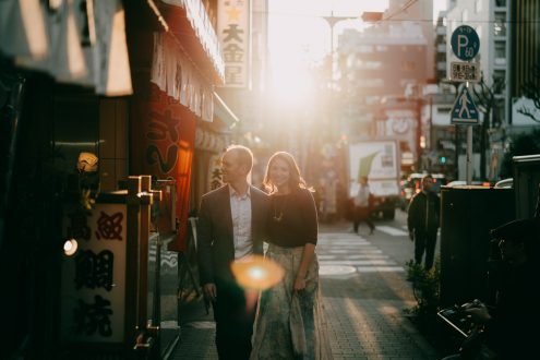 Tokyo portrait photographer Ippei and Janine - Japan engagement photography