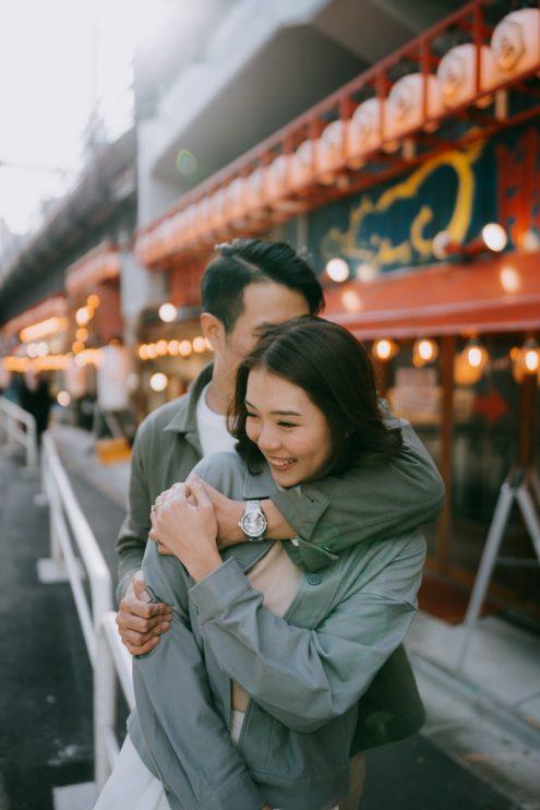 Tokyo engagement photographer - Japan pre-wedding portrait photography