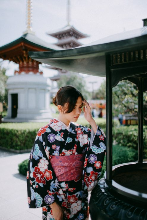Tokyo kimono portrait photography by Ippei and Janine - Japan vacation photographer