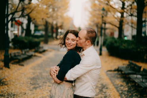 Tokyo engagement pre-wedding photography - Japan portrait photographer Ippei and Janine