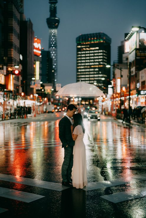 Tokyo pre-wedding portrait photography - Japan engagement photographer Ippei and Janine