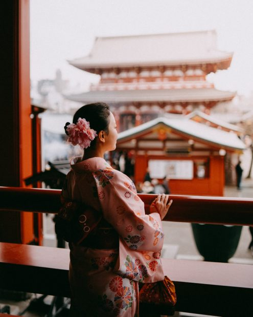 Tokyo kimono portrait photography by Ippei and Janine - English speaking vacation photographer in Tokyo