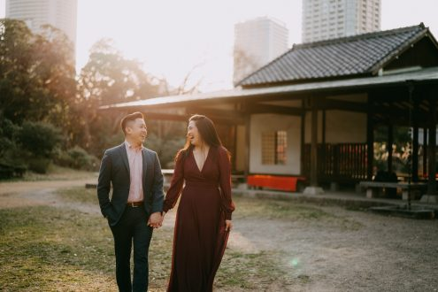 Tokyo pre-wedding engagement photography - Japan portrait photographer Ippei and Janine