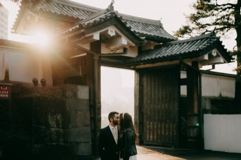 Tokyo elopement wedding photography - Tokyo portrait photographer Ippei and Janine