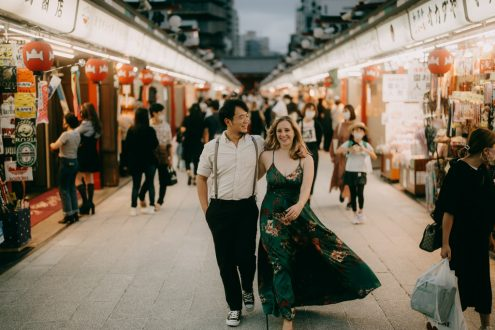 Tokyo engagement photography - Portrait photographer Ippei and Janine