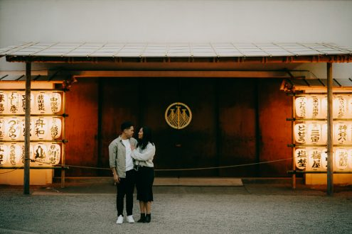 Tokyo Evening Couple Portrait Photography in Asakusa