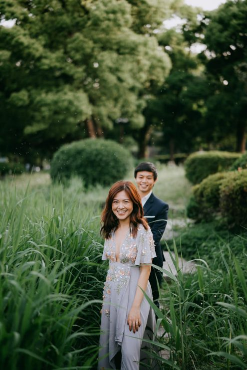Tokyo pre-wedding photography - Engagement portrait photographer Ippei and Janine