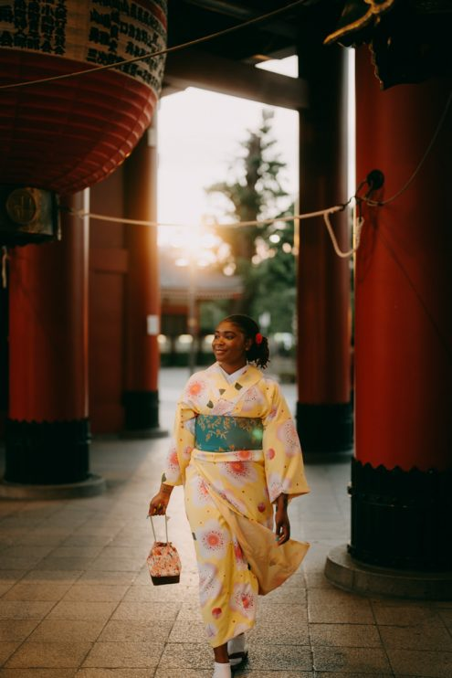Tokyo kimono portrait photography by Ippei and Janine
