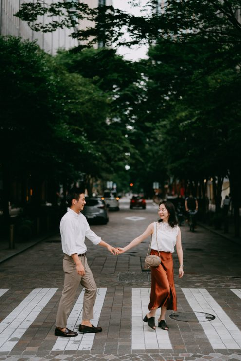 Tokyo engagement portrait photography - Japan pre-wedding photographer