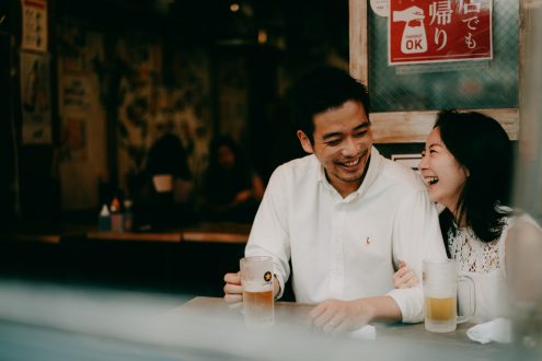 Tokyo engagement portrait photography - English speaking pre-wedding photographer Ippei and Janine