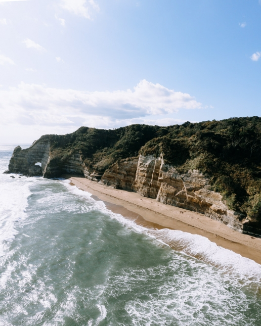 Secluded beach in Chiba for a day trip from Tokyo