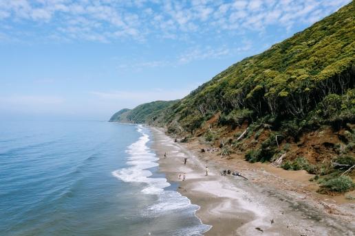Wild beach on Tokyo Bay, Chiba