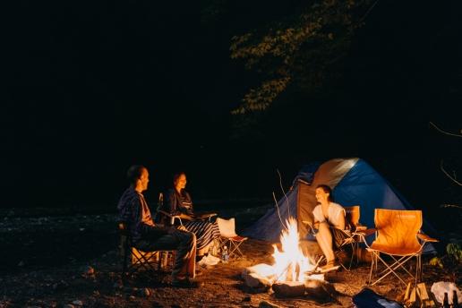 Wild camping in Okutama, Tokyo