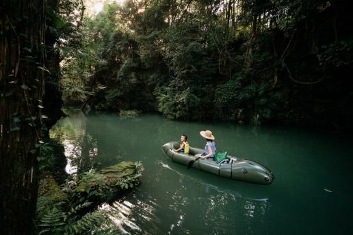 Tokyo canoeing day trip in forest stream of Saitama