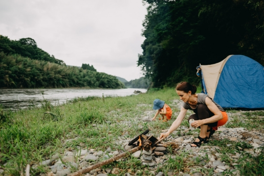 Wild camping from Tokyo - Nakagawa River