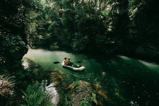 Tokyo day trip kayaking in jungle stream of Saitama