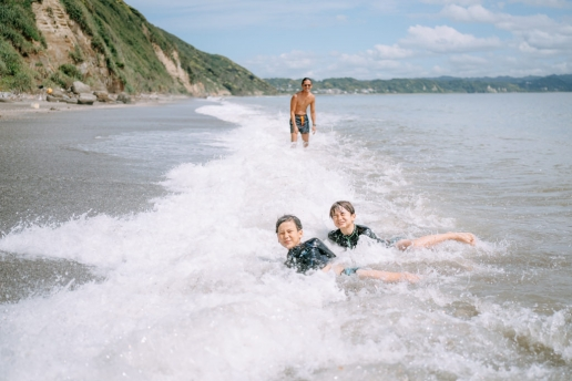 Tokyo Bay beach play