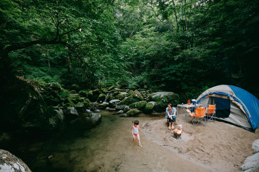 Wild camping weekend from Tokyo, Hananuki Gorge, Ibaraki