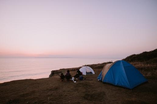 Wild camping by Tokyo Bay, Chiba
