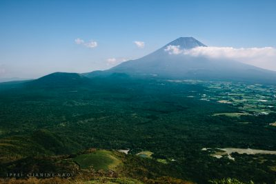 Scenic view of Mt. Fuji on a hiking day trip from Tokyo