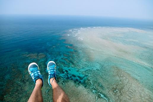 Aerial view of Japanese coral reef, Amami Oshima, Kagoshima