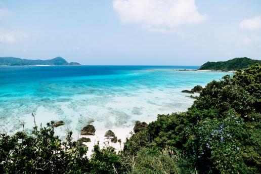 Beautiful Japanese coastline with tropical water, Amami Oshima Island, Kagoshima