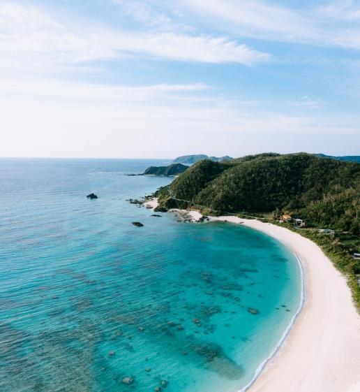 Idyllic subtropical beach, Amami Oshima Island, Kagoshima, Japan
