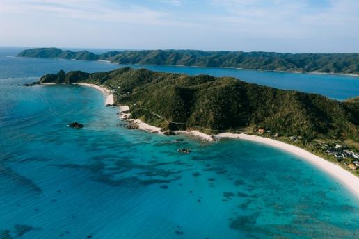Drone's eye view of Amami Oshima Island, Kagoshima, Japan