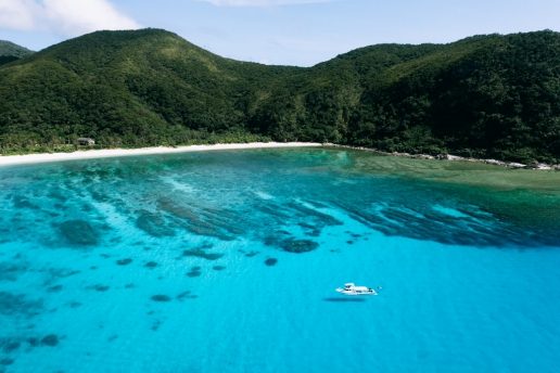 Tokashiku Beach, Tokashiki of Kerama Islands, Okinawa, Japan