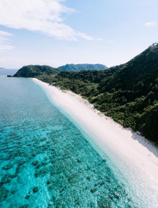 Idyllic tropical beach of Aka Island, Okinawa, Japan