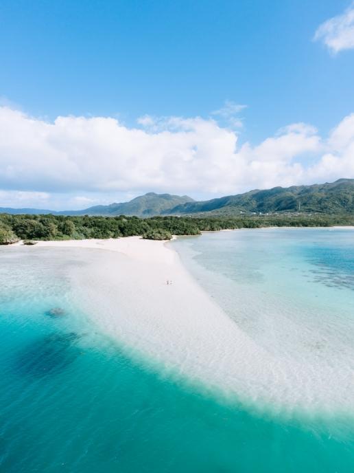 Sandbank in tropical Japan, Iriomote-Ishigaki National Park, Okinawa