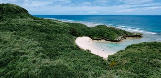 Secluded tropical beach, Kouri Island, Okinawa, Japan