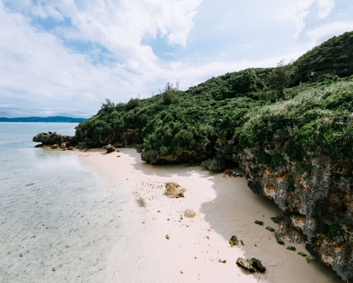 Secluded tropical beach, Kouri Island, Okinawa, Japan