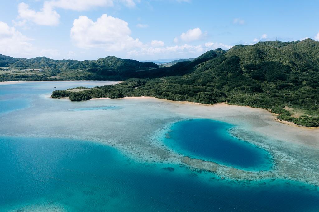 Tropical lagoon in southern Japan, Ishigaki Island of Yaeyama Islands, Okinawa