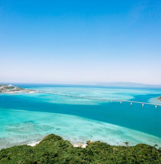 Okinawa blue tropical water