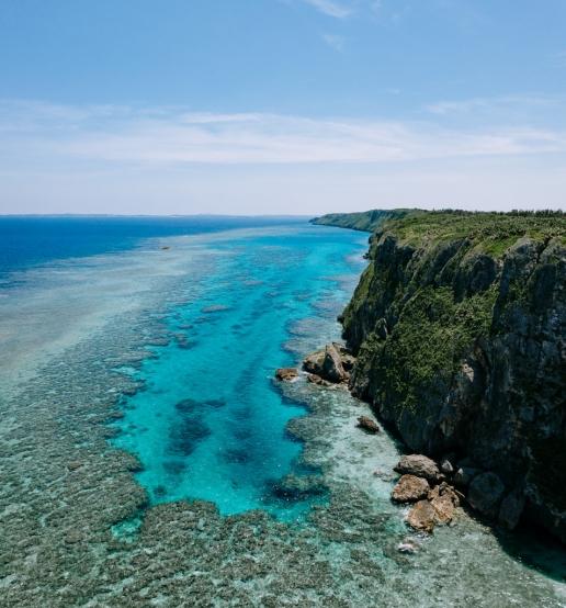 Tropical coastline, Irabu Island of Miyako Islands, Okinawa, Japan