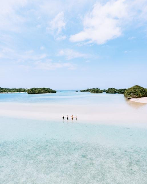 Tropical lagoon of Kabira Bay, Ishigaki, Japan